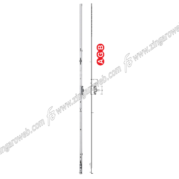 CREMONESE TESI ANTA/RIBALTA MONOANTA E25 GR5 1200-1400 mm. ZSL -SILVER prodotta da AGB