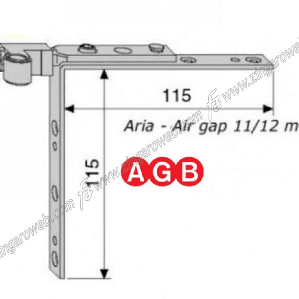 ARTICOLAZIONE TOP SUPERIORE REGISTRABILE A11/12 ZSL-SILVER prodotta da AGB