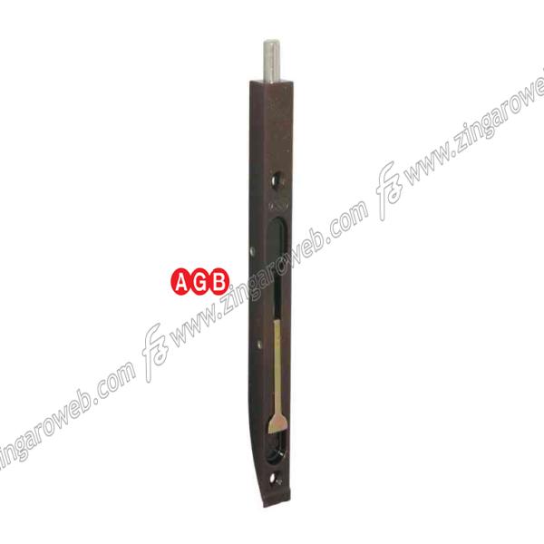 CATENACCIO INCASSO A LEVA PESANTE FRONTALE DA 20x250 mm. ZBR-BRONZATO prodotto da AGB