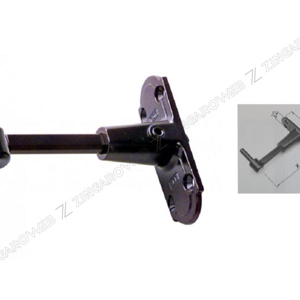 CARDINE+PIASTRA ABACO mm.25x90x86-115 GR2 NERO ABACO REGOLABILE prodotto da AGB