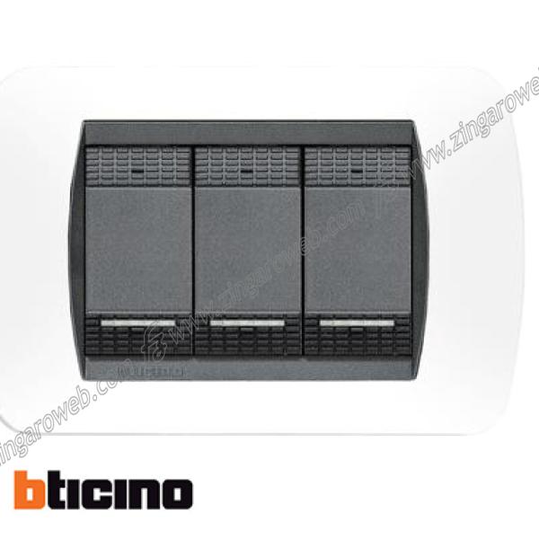 COPRINTERRUTTORE PLASTICA LIVING INTERNATIONAL BIANCO 3 FORI prodotto da Bticino