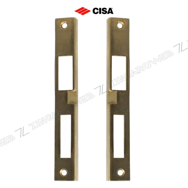CONTROPIASTRA ANGOLARE mm.185x25 OTTONE DESTRO-SINISTRO prodotto da CISA