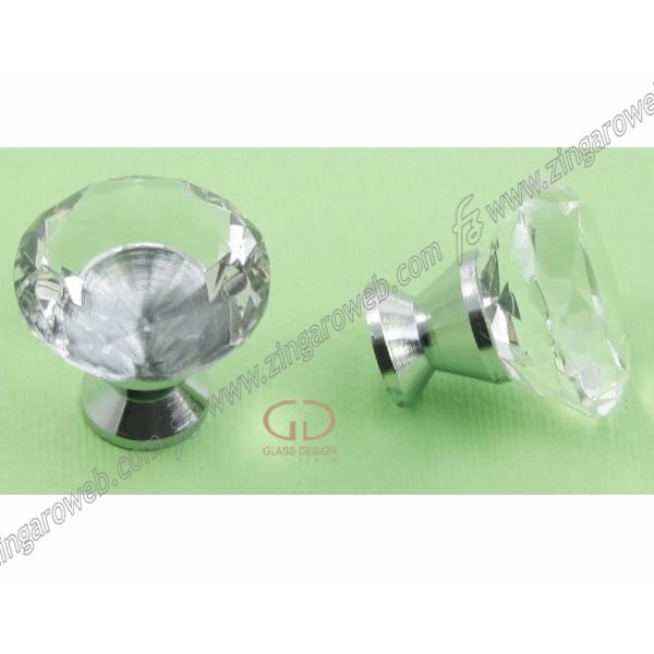 POMOLINO MOBILE CRISTALLO DELUXE KNOB TRASPARENTE/CROMO prodotto da GLASS DESIGN