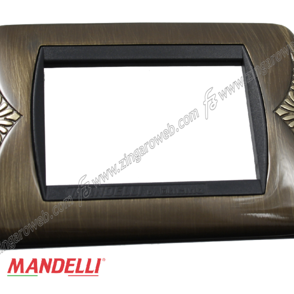 COPRINTERRUTTORE LIVING INTERNATIONAL 4 FORI PB/BR prodotto da MANDELLI