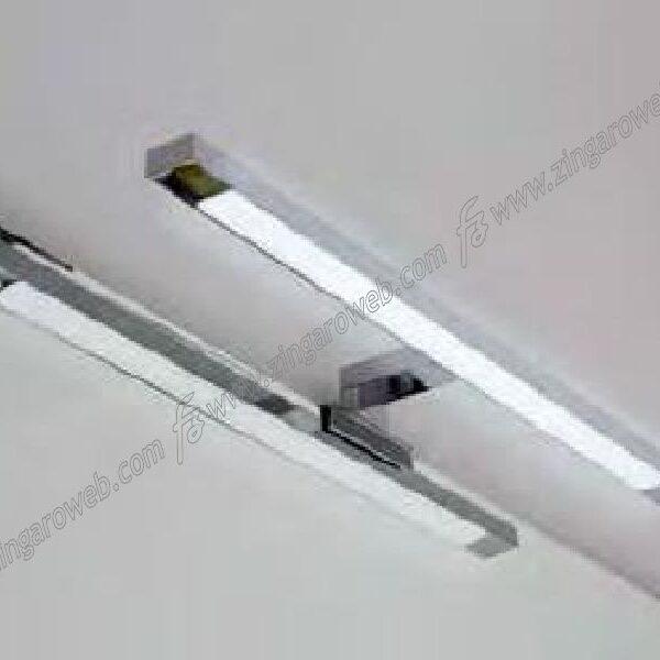 LAMPADA LED VINICIA IP44 w8 lm640 mm.500x95x30h K6400 ATTACCO TELAIO CROMO