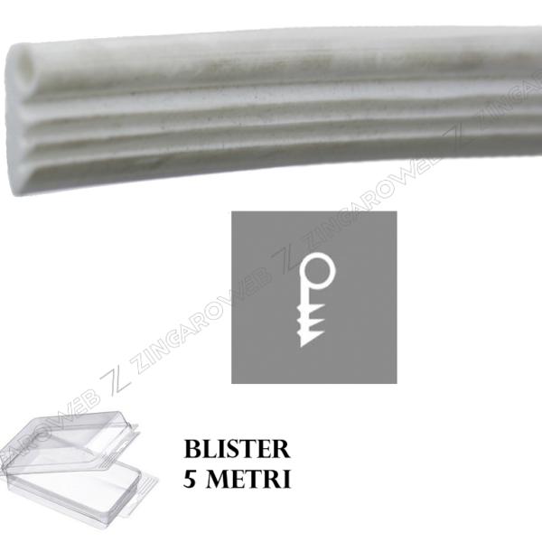 BLISTER GUARNIZIONE TENUTA ANTA FRESATURA mm.4 mt.5 BIANCO prodotto da PROFIL PLAST