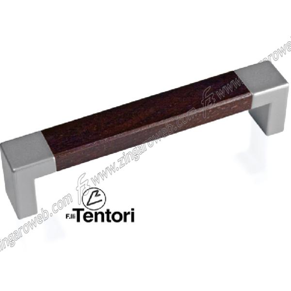 MANIGLIETTA MOBILE ANGE CROMO MATT VERNICIATO + WENGE' INTERASSE 128 mm. prodotta da TENTORI