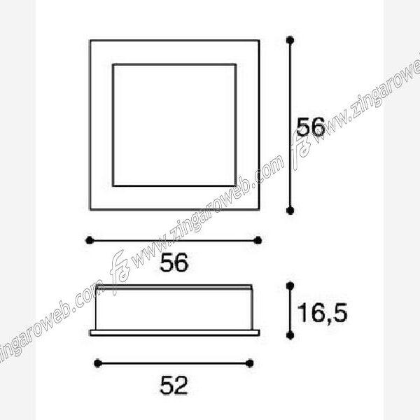 MANIGLIA DA INCASSO INTERRASSE 46 DA 53x53 mm. CROMO LUCIDO prodotta da CONFALONIERI