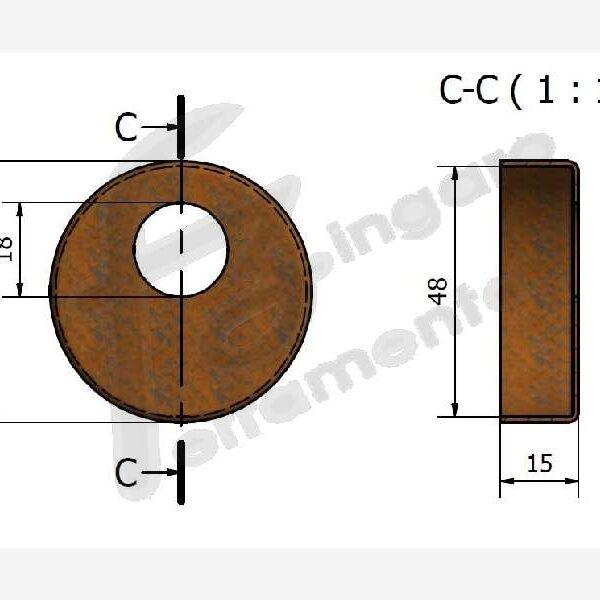 COPRI DEFENDER DA 50 mm. RUGGINE prodotto da UTENSIL LEGNO