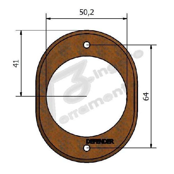 BOCCHETTA DEFENDER FORO DA 50,2 mm. RUGGINE prodotto da UTENSIL LEGNO